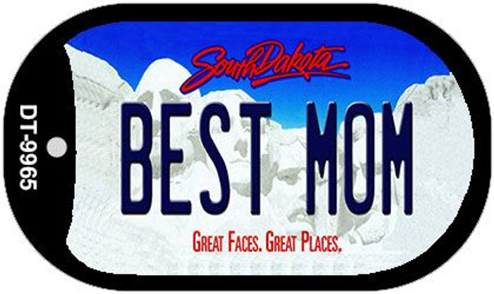 Best Mom South Dakota Novelty Metal Dog Tag Necklace DT-9965
