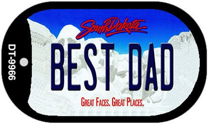 Best Dad South Dakota Novelty Metal Dog Tag Necklace DT-9966