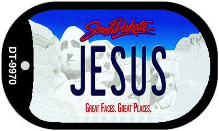 Jesus South Dakota Novelty Metal Dog Tag Necklace DT-9970
