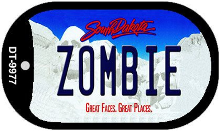 Zombie South Dakota Novelty Metal Dog Tag Necklace DT-9977