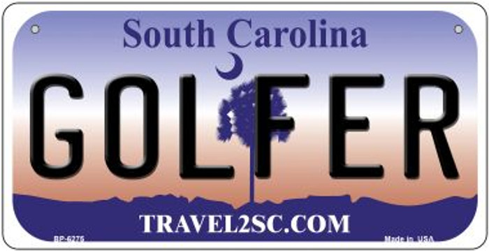 Golfer South Carolina Novelty Metal Bicycle Plate BP-6275