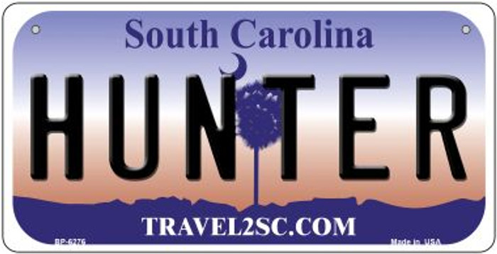 Hunter South Carolina Novelty Metal Bicycle Plate BP-6276