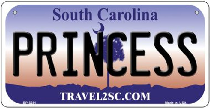 Princess South Carolina Novelty Metal Bicycle Plate BP-6281