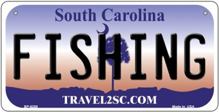 Fishing South Carolina Novelty Metal Bicycle Plate BP-6288