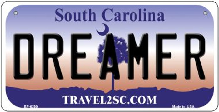 Dreamer South Carolina Novelty Metal Bicycle Plate BP-6290