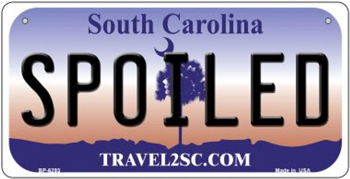 Spoiled South Carolina Novelty Metal Bicycle Plate BP-6293