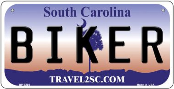 Biker South Carolina Novelty Metal Bicycle Plate BP-6294