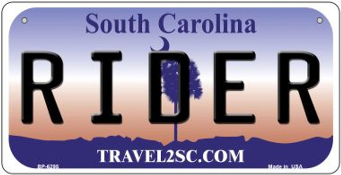 Rider South Carolina Novelty Metal Bicycle Plate BP-6295