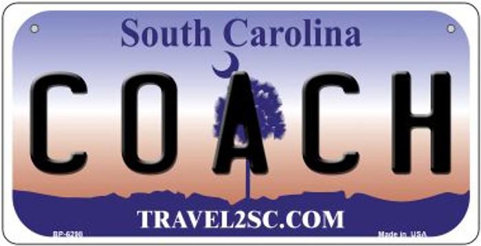 Coach South Carolina Novelty Metal Bicycle Plate BP-6298