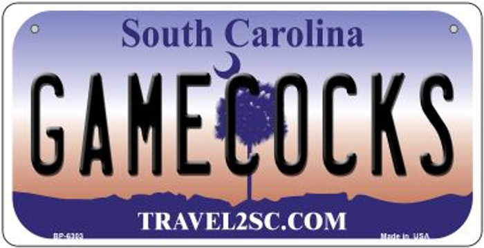 Gamecocks South Carolina Novelty Metal Bicycle Plate BP-6303