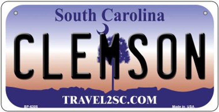 Clemson South Carolina Novelty Metal Bicycle Plate BP-6305