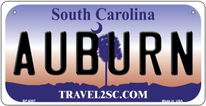 Auburn South Carolina Novelty Metal Bicycle Plate BP-6307