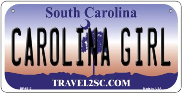 Carolina Girl Novelty Metal Bicycle Plate BP-6313