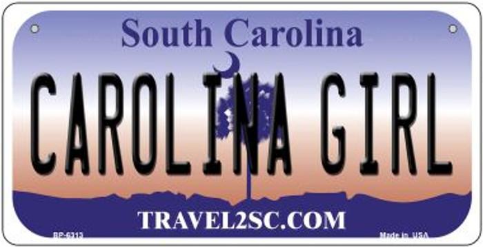 Carolina Girl Novelty Metal Bicycle Plate BP-6313