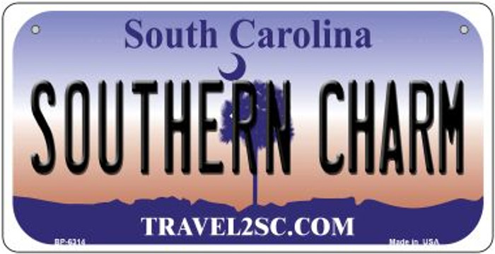 Southern Charm South Carolina Novelty Metal Bicycle Plate BP-6314