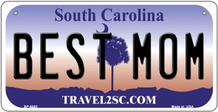 Best Mom South Carolina Novelty Metal Bicycle Plate BP-6663