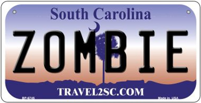 Zombie South Carolina Novelty Metal Bicycle Plate BP-6745