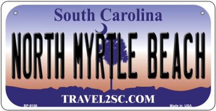 North Myrtle Beach South Carolina Novelty Metal Bicycle Plate BP-9108
