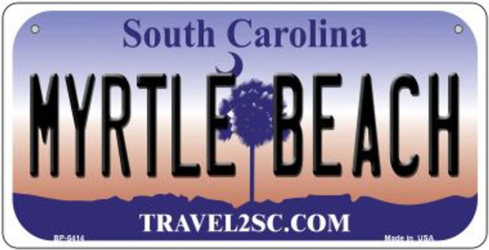 Myrtle Beach South Carolina Novelty Metal Bicycle Plate BP-5414