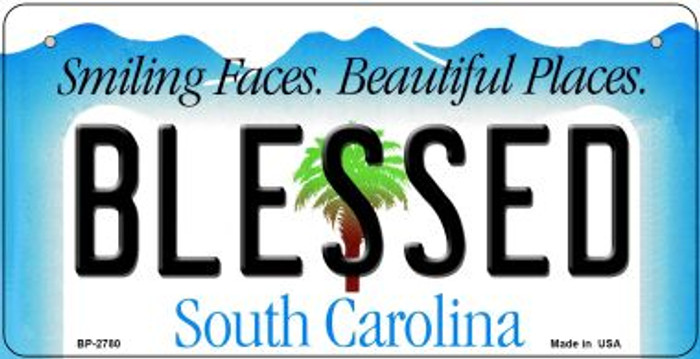 Blessed South Carolina Novelty Metal Bicycle Plate BP-2780