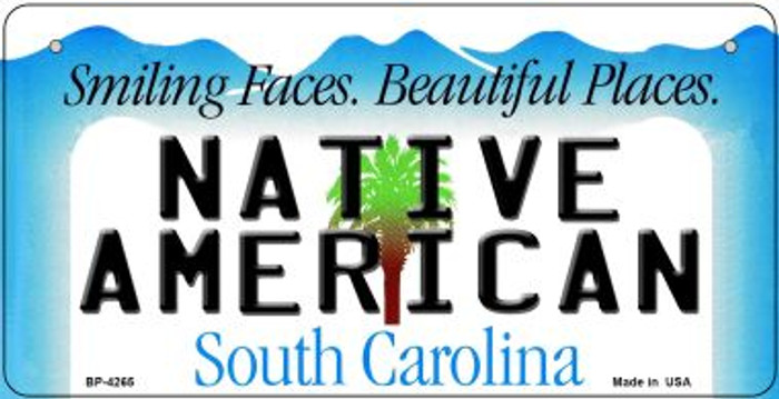 Native American South Carolina Novelty Metal Bicycle Plate BP-4265