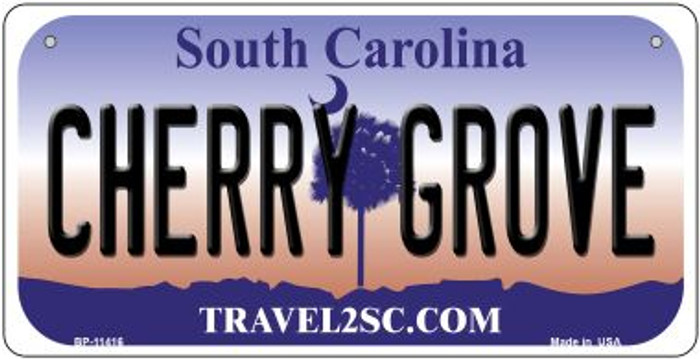 Cherry Grove South Carolina Novelty Metal Bicycle Plate BP-11416