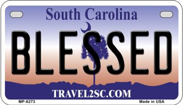 Blessed South Carolina Novelty Metal Motorcycle Plate MP-6273