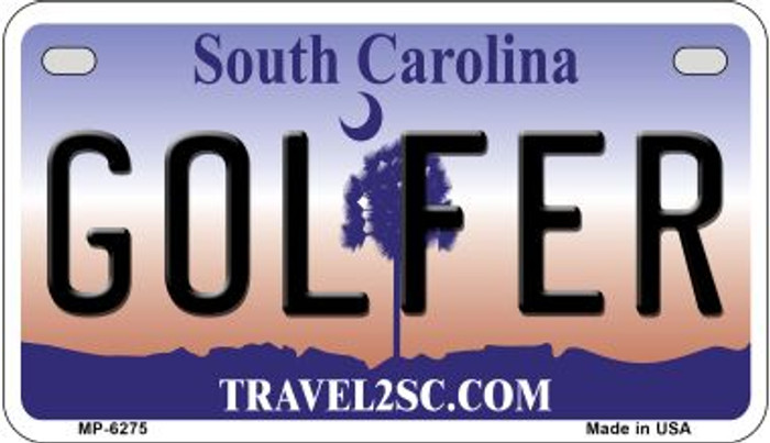 Golfer South Carolina Novelty Metal Motorcycle Plate MP-6275