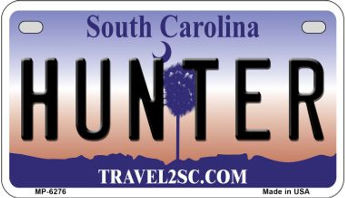 Hunter South Carolina Novelty Metal Motorcycle Plate MP-6276