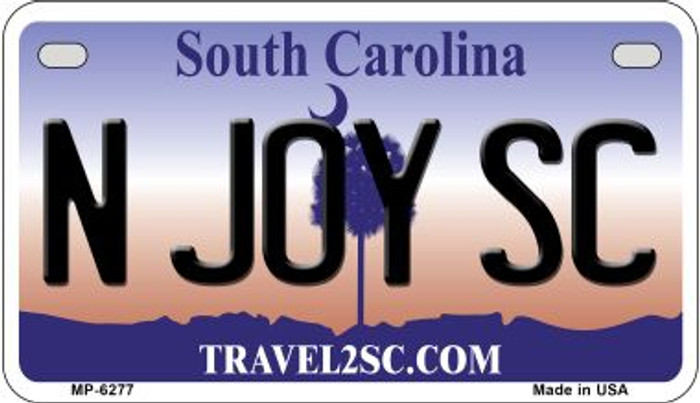 N Joy SC South Carolina Novelty Metal Motorcycle Plate MP-6277