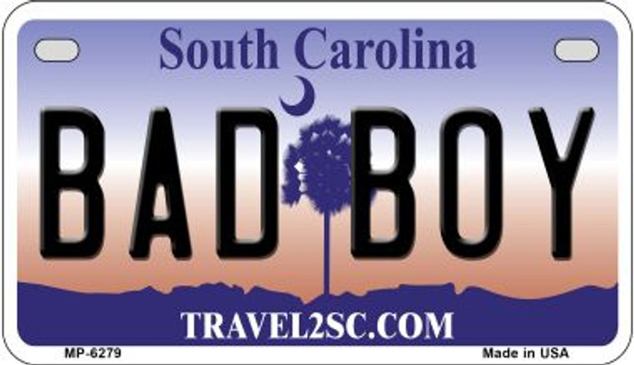 Bad Boy South Carolina Novelty Metal Motorcycle Plate MP-6279