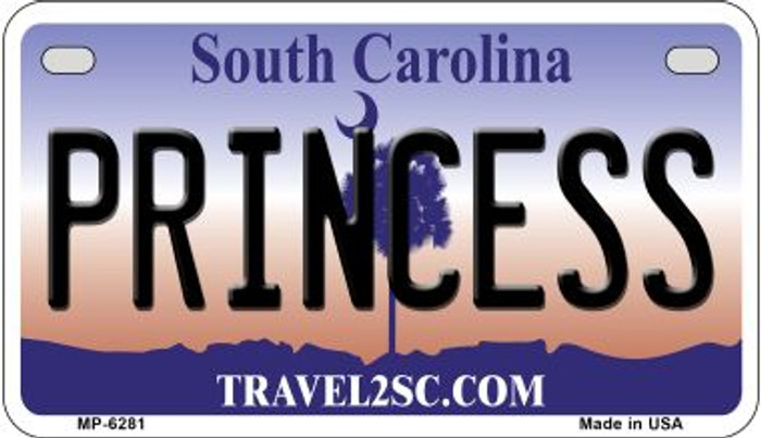 Princess South Carolina Novelty Metal Motorcycle Plate MP-6281