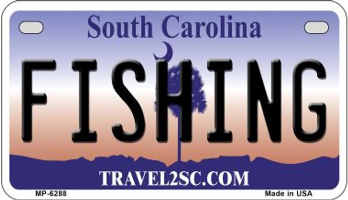 Fishing South Carolina Novelty Metal Motorcycle Plate MP-6288