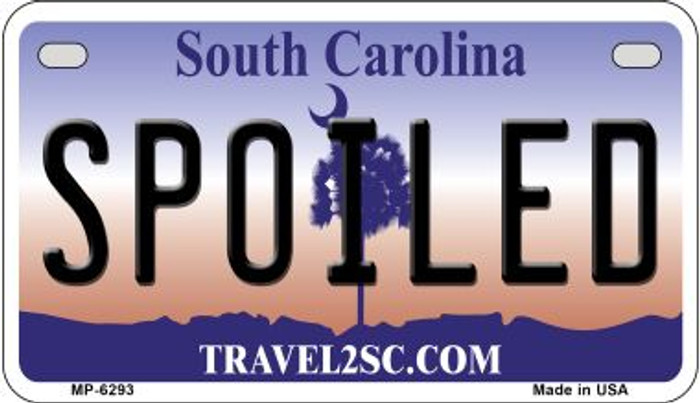 Spoiled South Carolina Novelty Metal Motorcycle Plate MP-6293