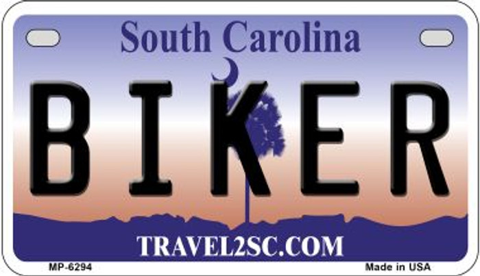 Biker South Carolina Novelty Metal Motorcycle Plate MP-6294
