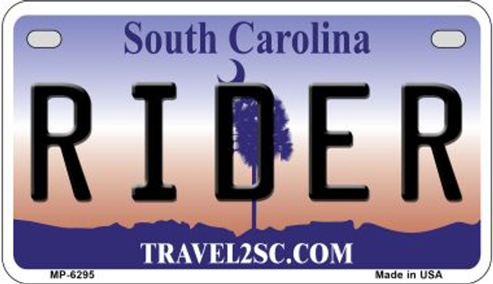 Rider South Carolina Novelty Metal Motorcycle Plate MP-6295