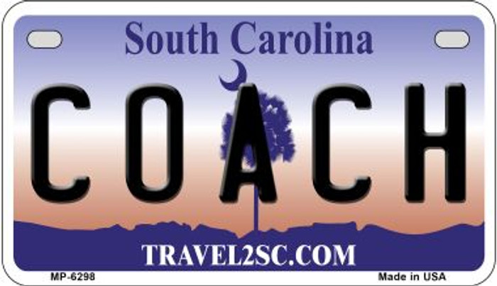 Coach South Carolina Novelty Metal Motorcycle Plate MP-6298