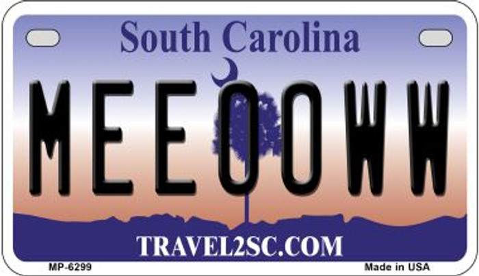 Meeooww South Carolina Novelty Metal Motorcycle Plate MP-6299