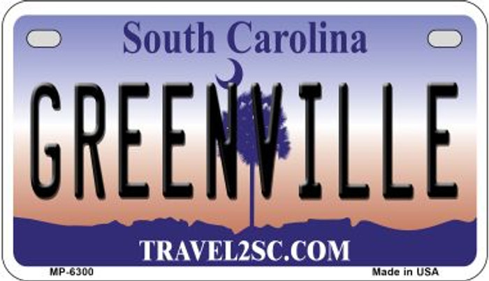 Greenville South Carolina Novelty Metal Motorcycle Plate MP-6300
