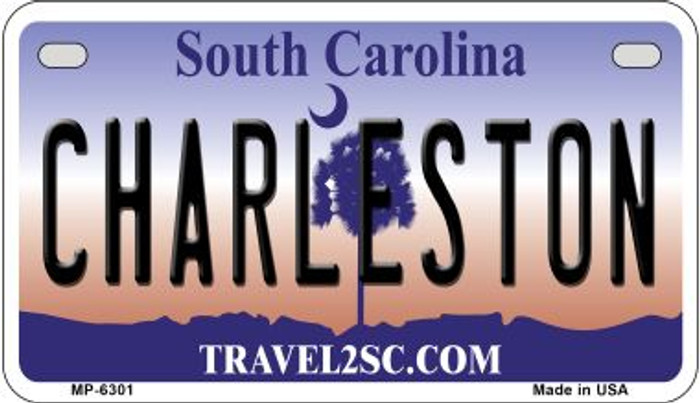 Charleston South Carolina Novelty Metal Motorcycle Plate MP-6301