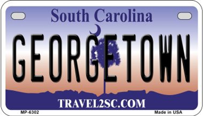 Georgetown South Carolina Novelty Metal Motorcycle Plate MP-6302