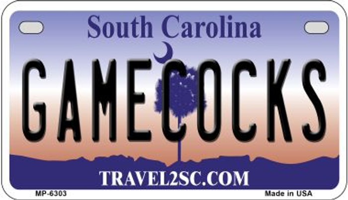 Gamecocks South Carolina Novelty Metal Motorcycle Plate MP-6303