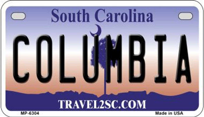 Columbia South Carolina Novelty Metal Motorcycle Plate MP-6304
