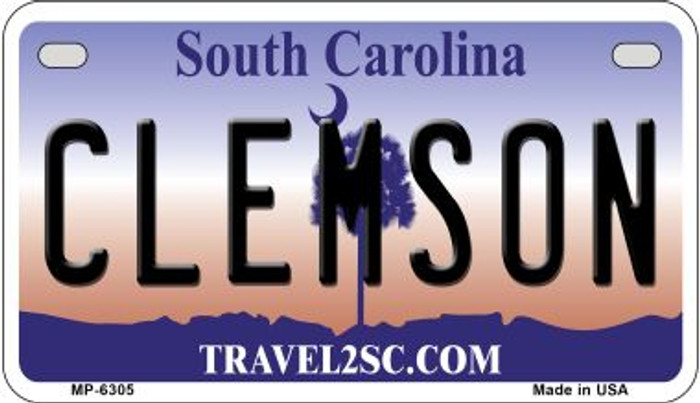 Clemson South Carolina Novelty Metal Motorcycle Plate MP-6305