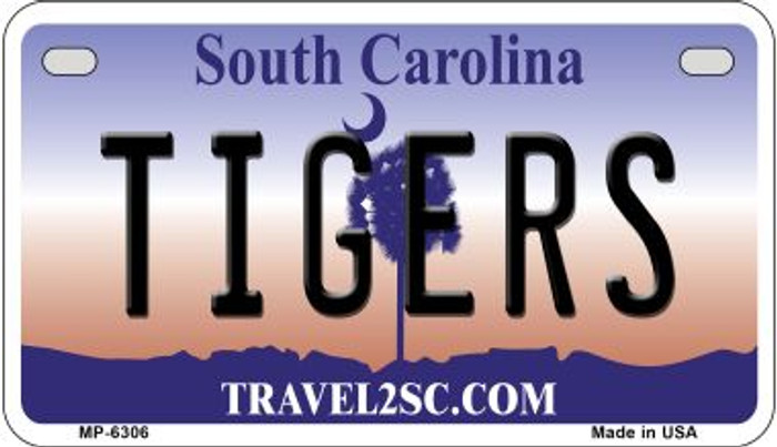 Tigers South Carolina Novelty Metal Motorcycle Plate MP-6306