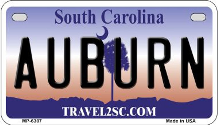 Auburn South Carolina Novelty Metal Motorcycle Plate MP-6307