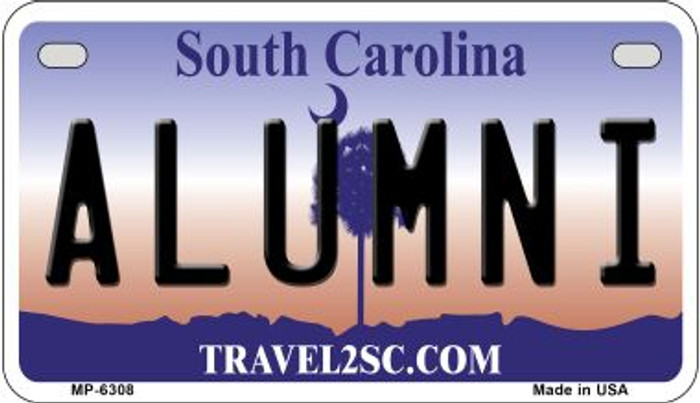 Alumni South Carolina Novelty Metal Motorcycle Plate MP-6308