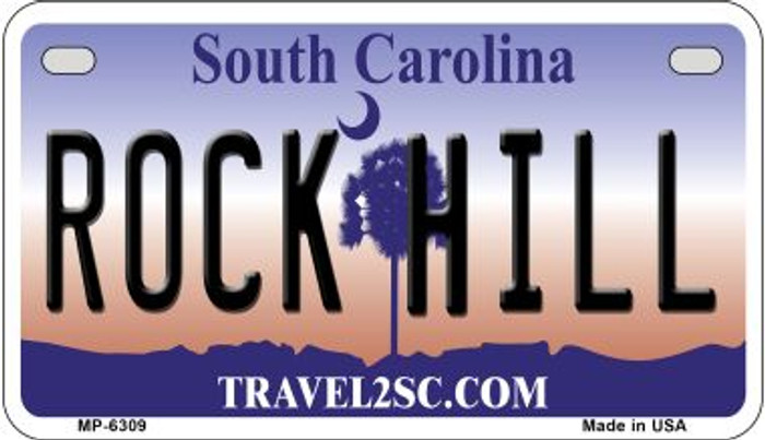 Rock Hill South Carolina Novelty Metal Motorcycle Plate MP-6309