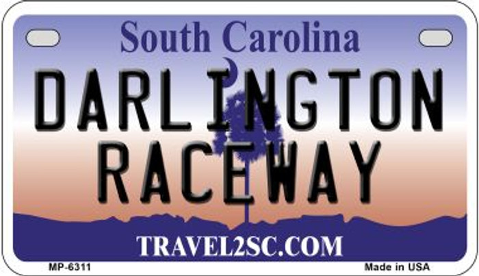 Darlington Raceway South Carolina Novelty Metal Motorcycle Plate MP-6311