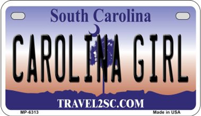 Carolina Girl Novelty Metal Motorcycle Plate MP-6313